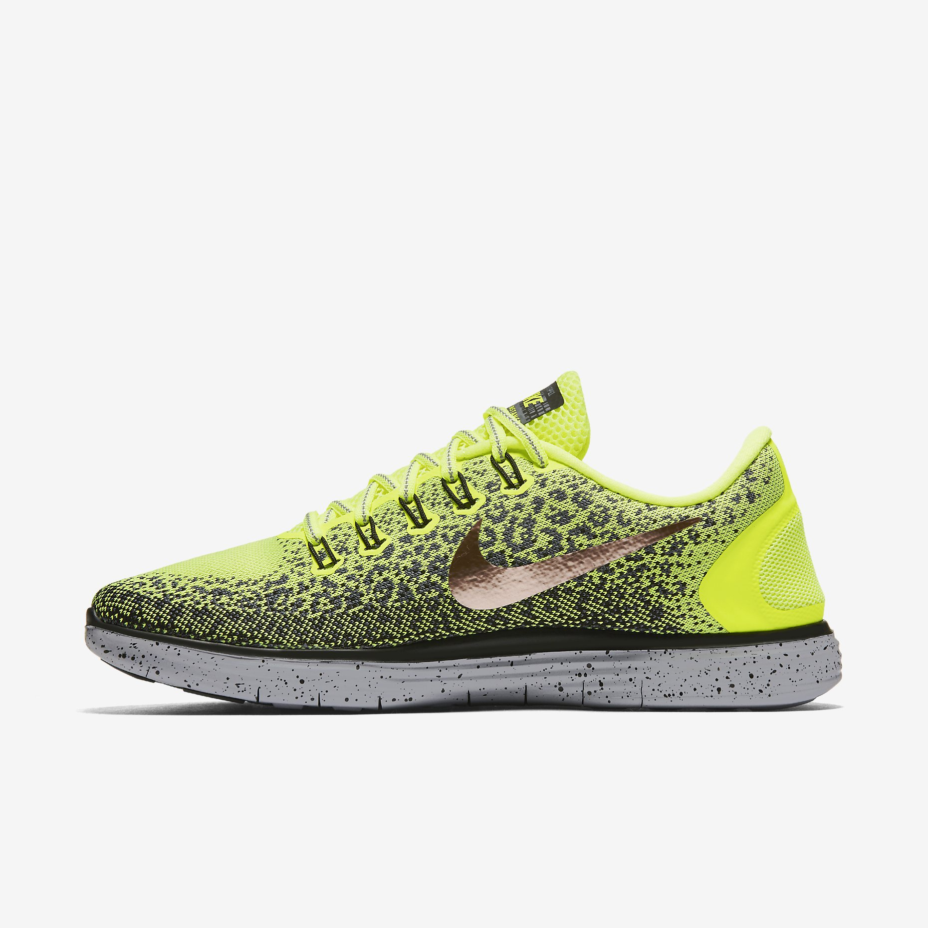 new concept bb3cd e1969 Nike Free RN Distance Shield Electric Yellow