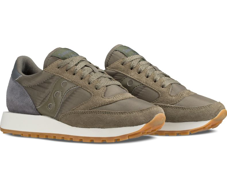 the latest a2e89 db353 Saucony Jazz Original Women's Shoes | Olive / Charcoal
