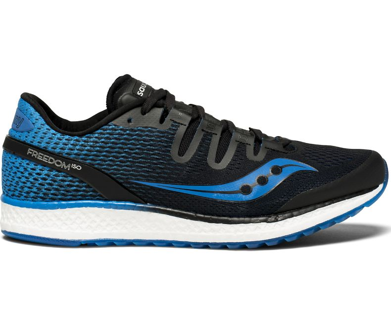 08eaaddfee Saucony Freedom ISO Men's Running Shoes | Black / Blue