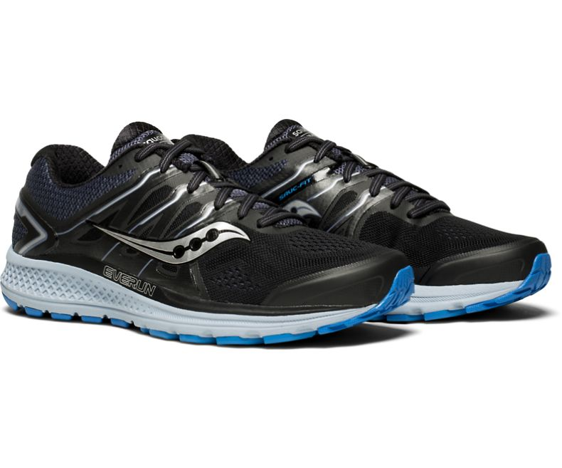Saucony OMNI ISO - Stabilty running shoes - black/grey/vizired n2tg5fI