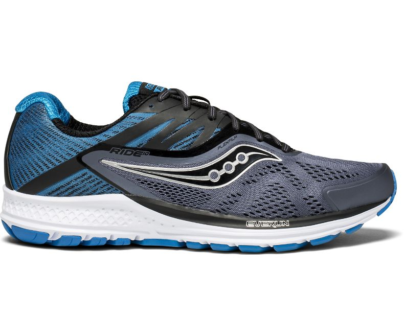 75eb664a80 Saucony Ride 10 Men's Running Shoes | Grey / Black