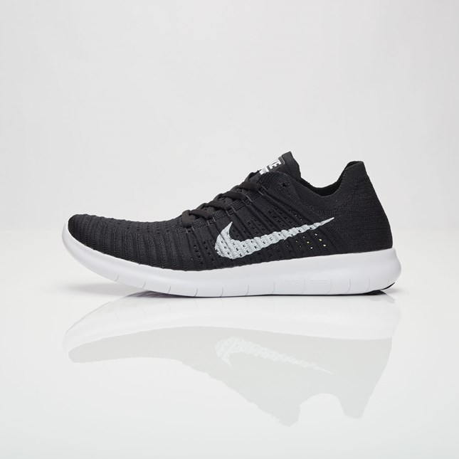 buy online 1eed1 4853e Nike Free RN Flyknit Men s Running Shoes   Black