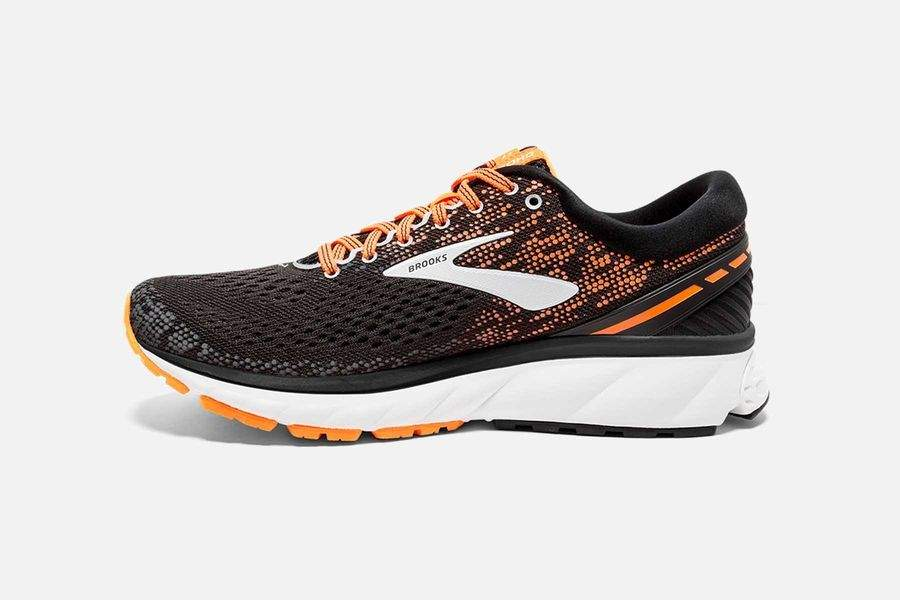 Brooks Ghost 11 Men's Running Shoes | Black / Orange