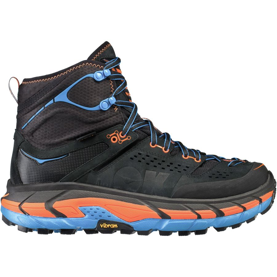 cb4eb558263 Hoka One One Tor Ultra Hi WP Men's Hiking Shoes | Black/Orange