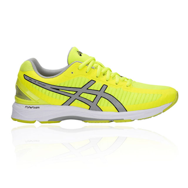 asics mens running trainers yellow