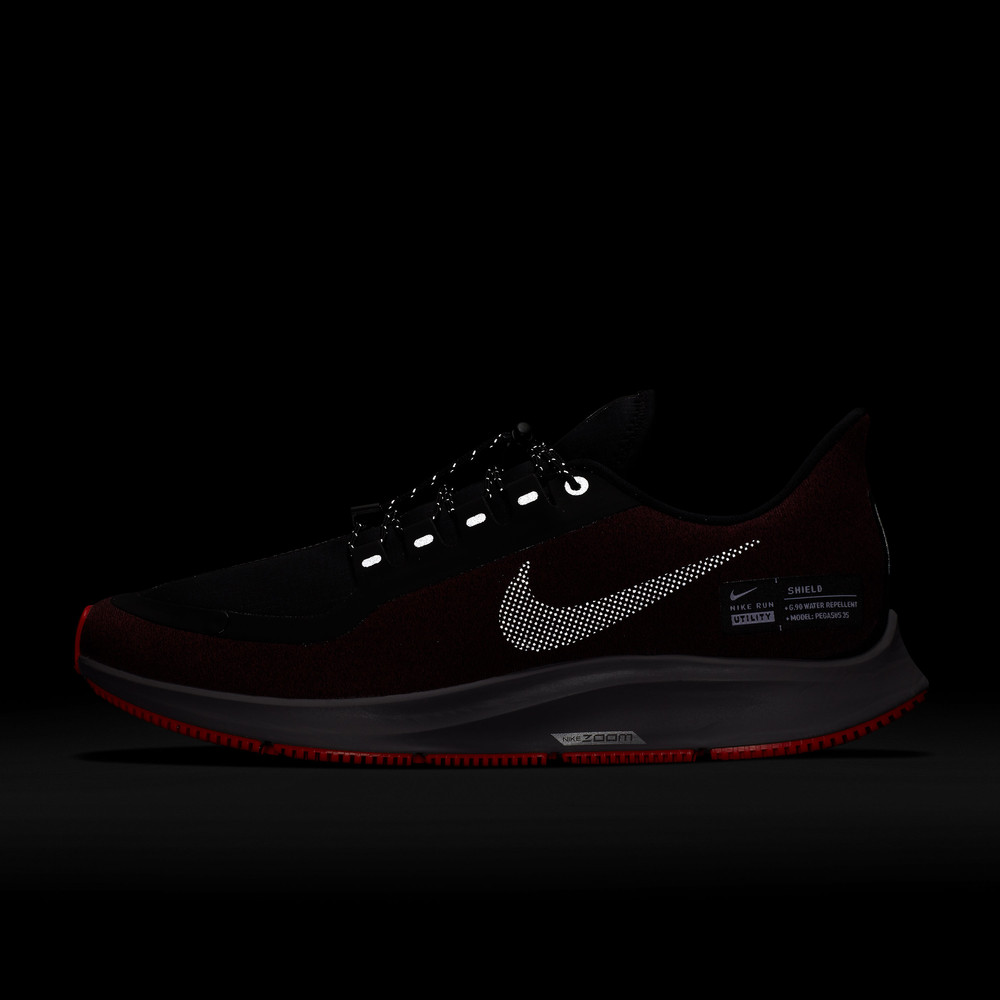 new arrival 81d71 fba63 Nike Air Zoom Pegasus 35 Shield Men's Running Shoes | Red/Silver