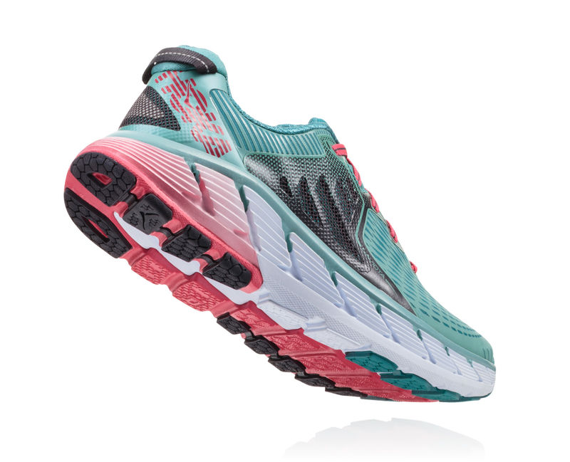 purchase cheap 15f8d b210e Hoka One One Gaviota Women's Running Shoes | Canton / Green Blue Slate
