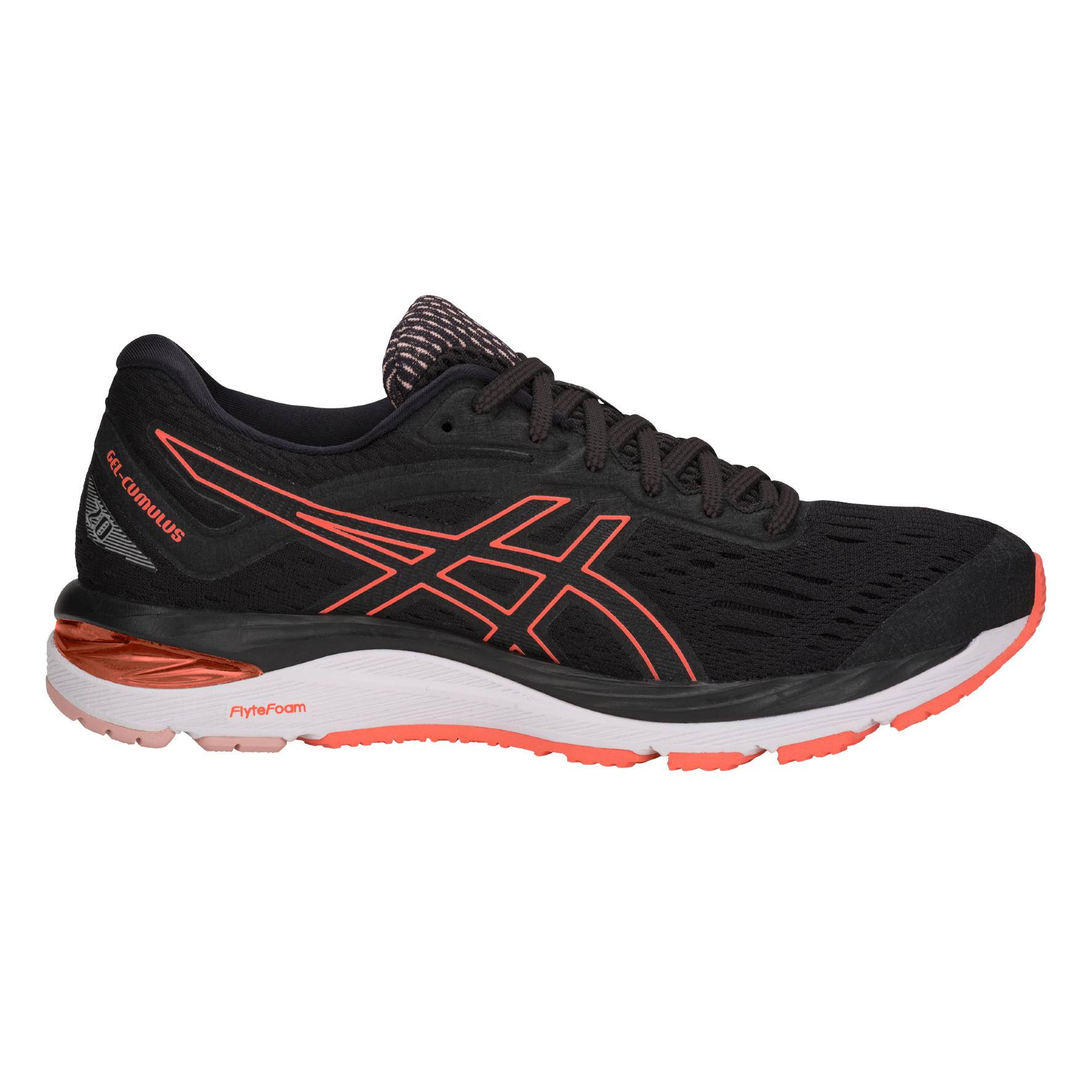save off 202cd f224b Asics Gel-Cumulus 20 Women's Running Shoes | Black/Flash/Coral