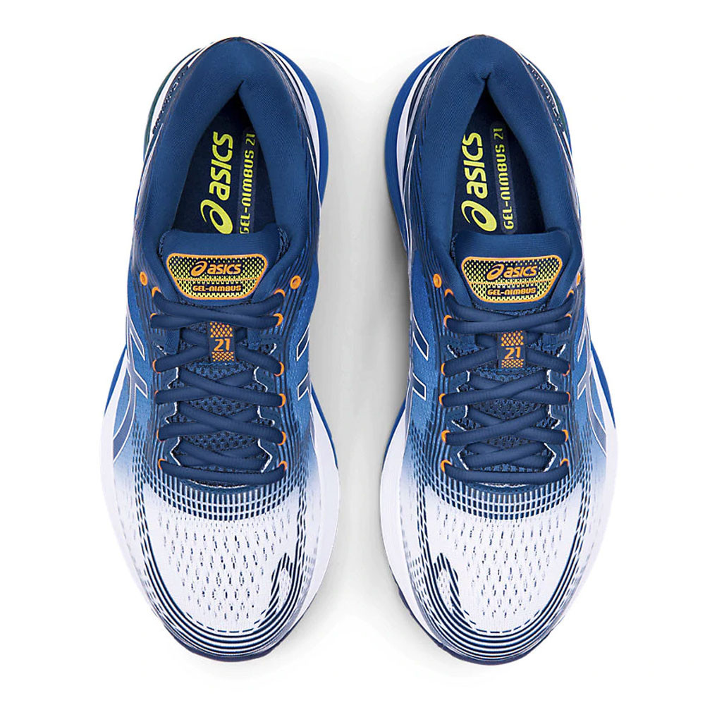 Asics Gel Nimbus 21 Men's Running Shoes | White/Lake Drive